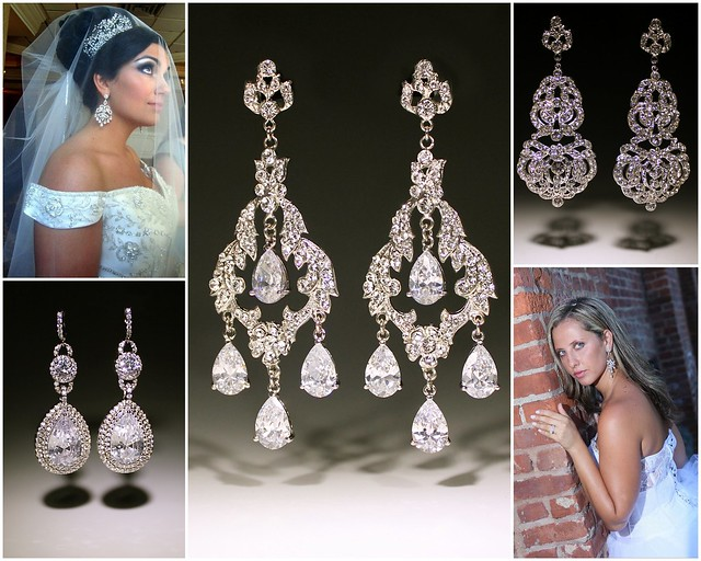 Gorgeous, Wear-Again Bridal Chandelier Earrings