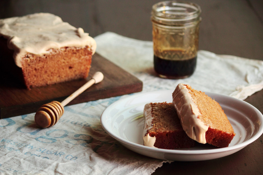 Honey Wheat Cake with Cream Cheese Icing