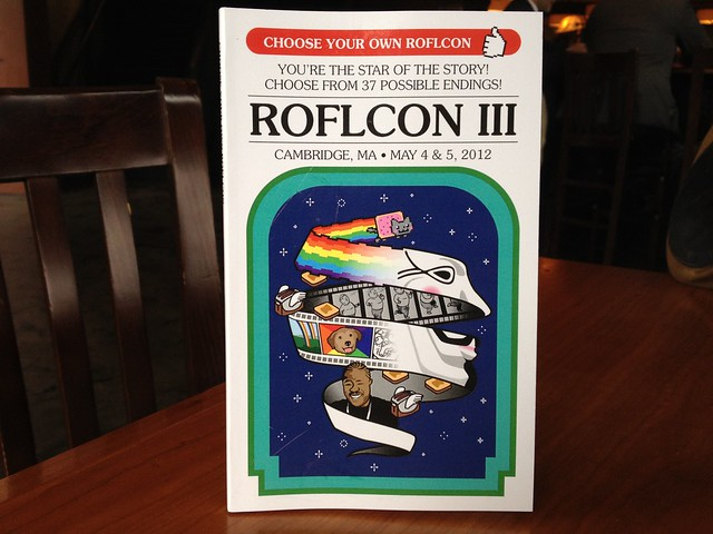 The ROFLCon schedule is in the form of an awesome Choose Your Own Adventure book