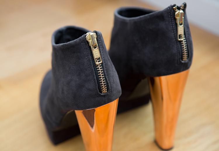 Topshop AUDIO Metallic Heel Boots