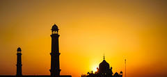 Sunset at Badshahi Mosque