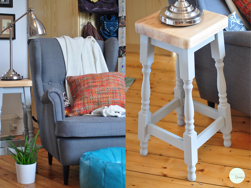 wooden stool revamp diy tranformation annie sloan chalk paint paris grey rottenotter rotten otter blog 5