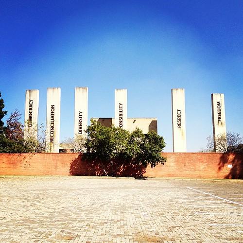 square southafrica politics lofi squareformat johannesburg apartheid apartheidmuseum urbantext publichistory linguisticlandscape iphoneography instagramapp uploaded:by=instagram foursquare:venue=4b05870ff964a520cd7d22e3