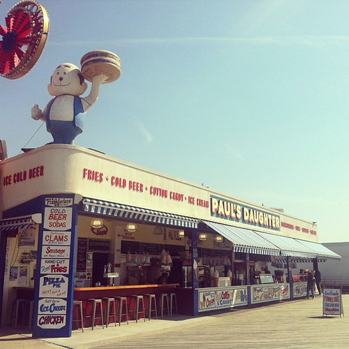 Paul's Daghter vid boardwalken på Coney Island.