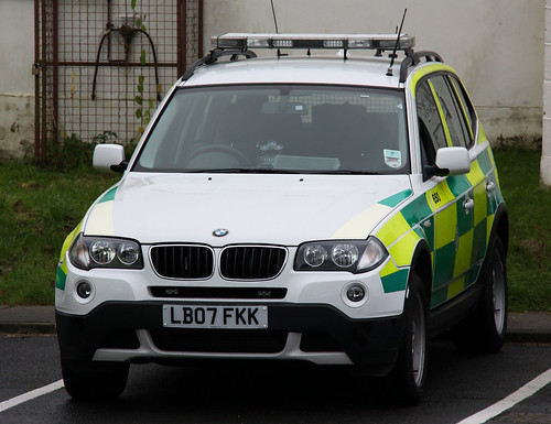 Isle of Wight Ambulance Service BMW X3 Rapid Response Vehicle - LB07 FKK