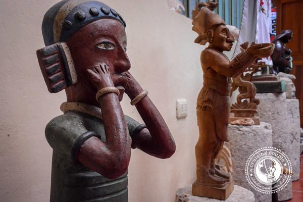 Mayan Artwork at Casa Hamaca Guesthouse