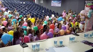 Secretária da Mulher, Cristina Maria prestigia evento da Fequimfar em Praia Grande
