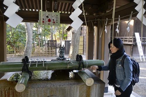 Ritual da purificação - templos Tóquio, Japão