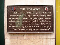 Photo of Thomas Percy and The Pavement bronze plaque