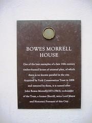 Photo of John Bowes Morrell bronze plaque