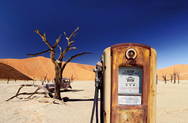 Desert Abandoned Gas Station Pump