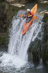 canoe slalom(0.0), water(1.0), vehicle(1.0), rapid(1.0), river(1.0), kayak(1.0), boating(1.0), extreme sport(1.0), kayaking(1.0), whitewater kayaking(1.0), watercraft(1.0), canoeing(1.0), boat(1.0), paddle(1.0),