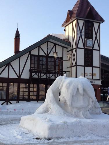 ミク雪像 in ニセコ