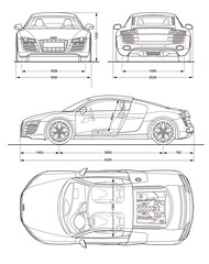 Copy Of Audi R8 V10 Blueprint Dimensions Lg[1]
