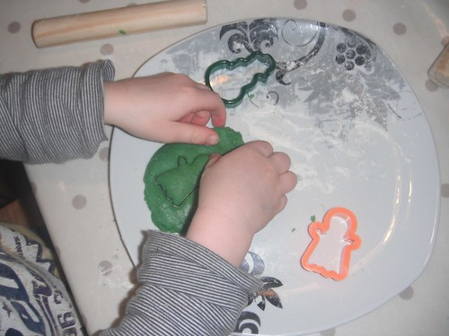 Making Green Cookies (Photo from My Montessori Preschool)