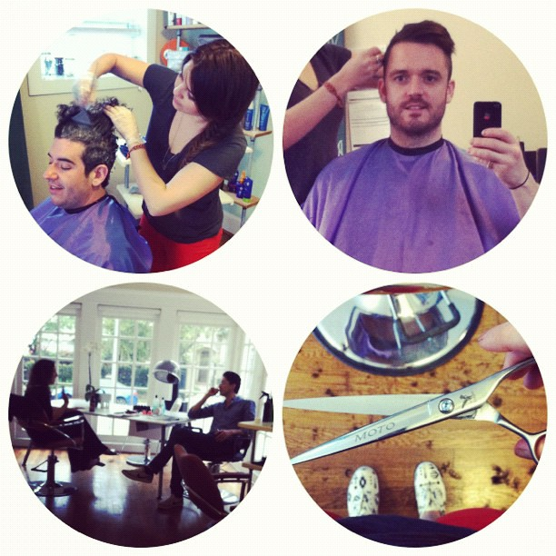 Purple cape day! @DoOrDyeTx #new7inchscissors #hair #salon