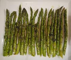 Roasted Asparagus Salad - Dressed