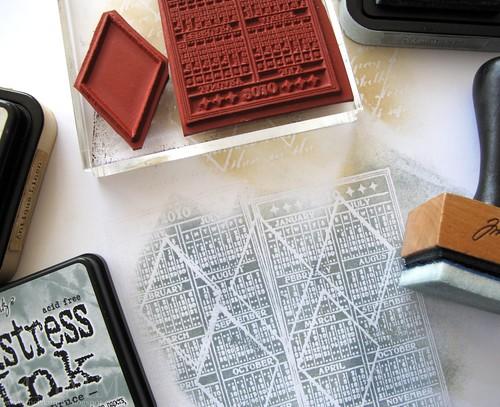 2b calendar POD stamp as a texture stamp