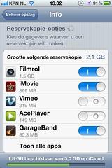 iCloud in iOS 5.1