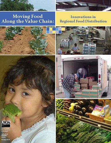 The front cover of the Moving Food Along the Value Chain report.  USDA produced the report after studying eight food organizations that are overcoming the challenges smaller producers typically face.