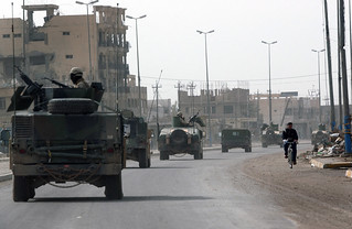 NMCB-23 patrols the streets of Fallujah