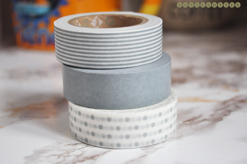 washi tape grey trio