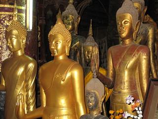 Luang Prabang Temple Buddhas