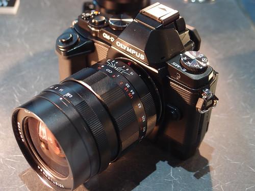 CP+ 2012 - コシナ ブース OM-D E-M5 + NOKTON 17.5mm F0.95