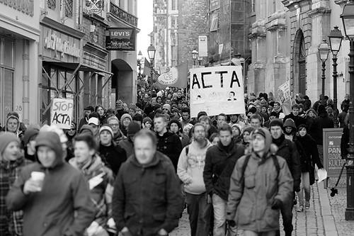 Protest gegen ACTA in Aachen