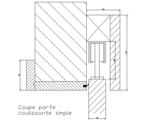 dessin porte coulissante simple flickr photo sharing. Black Bedroom Furniture Sets. Home Design Ideas