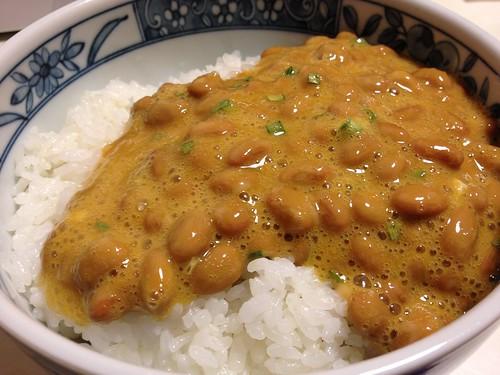 芝崎納豆とご飯