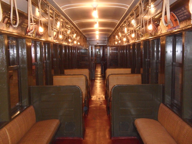 interior of old subway car with wicker seats explore eric flickr photo sharing. Black Bedroom Furniture Sets. Home Design Ideas