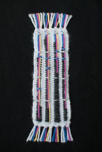 Titanic + data + weaving = weaving project 14