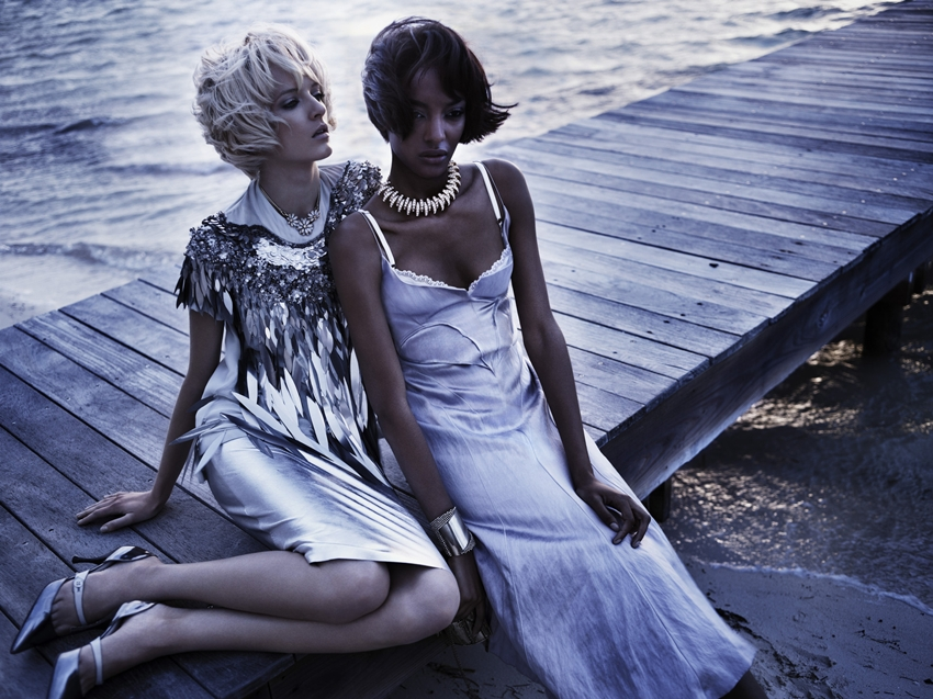 Swept Away - Vogue Japan, April 2012 - Daria Strokous and Jourdan Dunn by Josh Olins and styling by Giovanna Battaglia