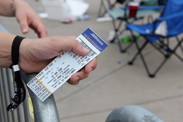 U2 Concert ticket