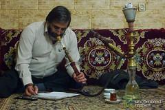 Iranian Man Smoking Shisha Pipe - Ardabil, Iran