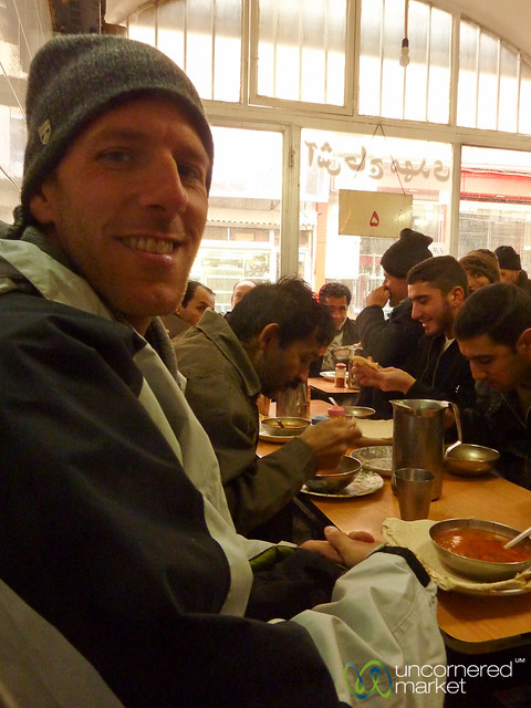 Eating Ash (Iranian Soup) in Tabriz, Iran