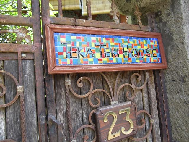 Teka-Teki house front gate
