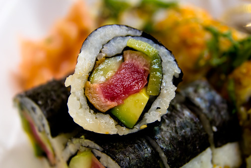 Tuna and Kiwi Maki at Andy's Sushi Bar