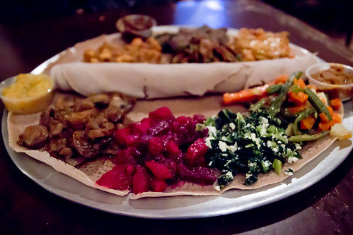 Vegetable Sampler and Combination Platter at Abay