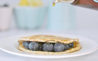 Blueberries & maple syrup