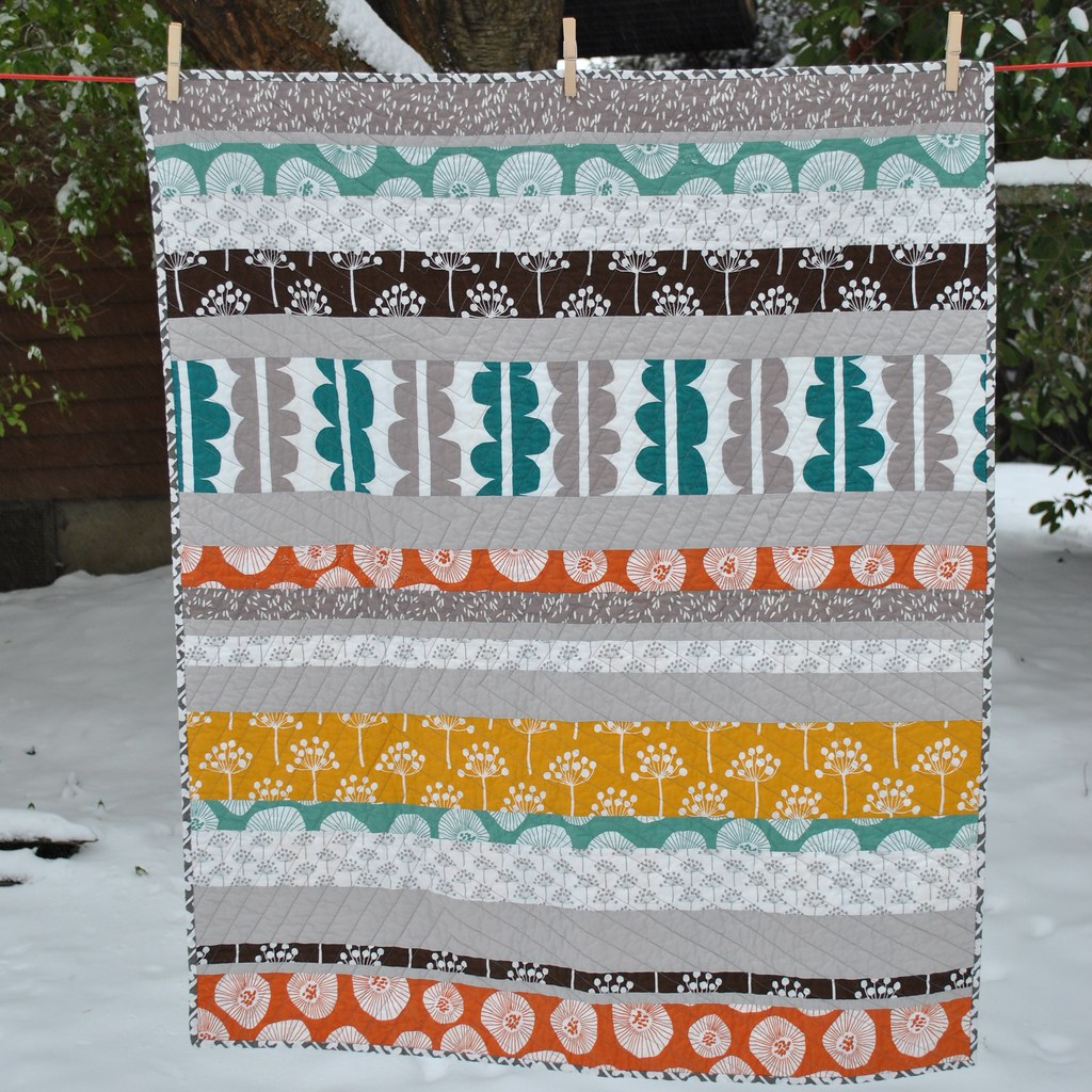 Echo quilt for baby boy