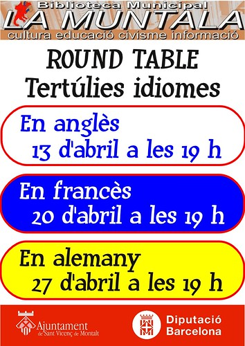 Round table @ abril by bibliotecalamuntala