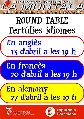 Round table @ abril by bibliotecalamuntala