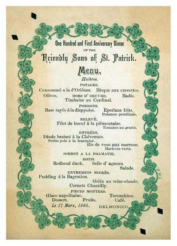 018-101ST ANNIVERSARY DINNER  FRIENDLY SONS OF ST.PATRICK-Menu-NYPL