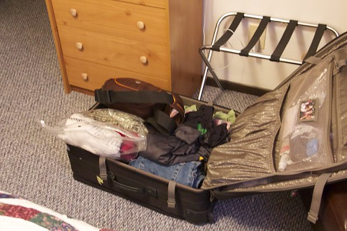 My suitcase on Saturday