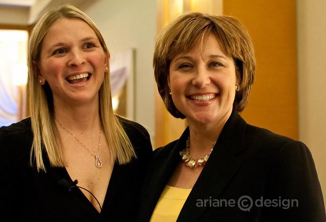 Christina Anthony with Premier Christy Clark