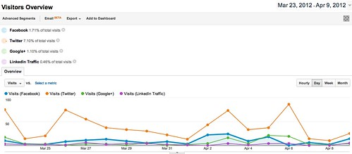 Visitors Overview - Google Analytics