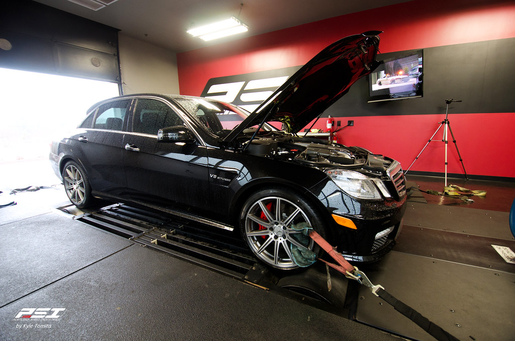 2012 E63 AMG BiTurbo on the dyno at PSI
