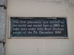 Photo of John Boyd Dunlop brown plaque